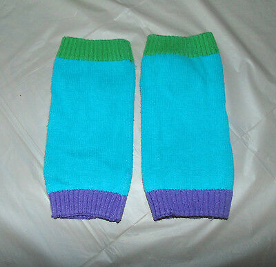 Baby Gap Turquoise Green & Purple Trim Knit Leg Warmers One Size OS Toddler Girl