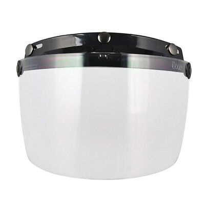 3-Snap Universal Flip Up Visor Shield Lens For Retro Open Face Motorcycle Helmet