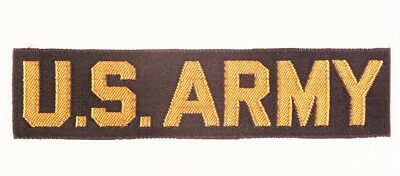 "Cloth Name Tape, Pocket Title #12  ""U.S. Army"" - yellow/black, woven"