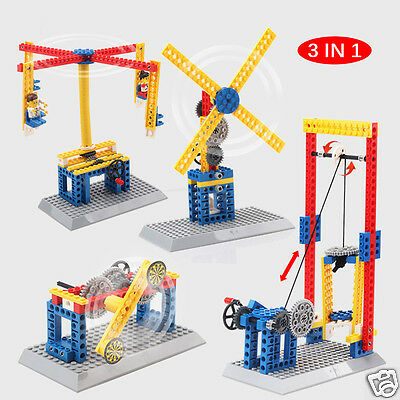 Kid Education Puzzle Assembly Mechanical Building Blocks ABS Construction Toys