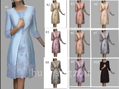 Mother Of the Bride Dresses Gowns 3/4 Sleeves Size 8 10 12 14 16 18 20 22 Plus