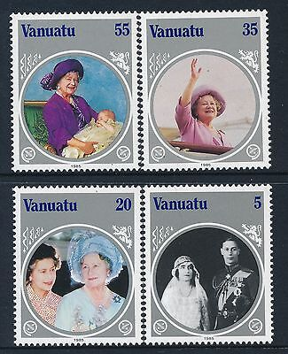 1985 Vanuatu The Life & Times Of The Queen Mother Set Of 4 Fine Mint Mnh/muh