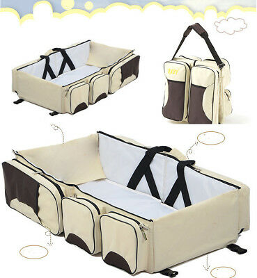 Multi-function Mummy Bags Mother Folding Bags Child Bags Portable Travel Crib