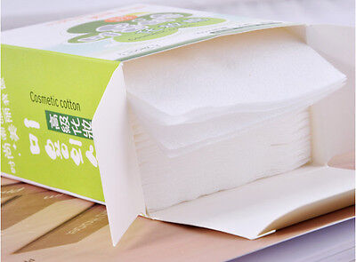 Disposable Facial Cleansing Cotton Tissue Pad Makeup Remover 100 Sheets Top ES
