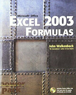 Excel 2003 Formulas by Walkenbach, John Paperback Book The Cheap Fast Free Post