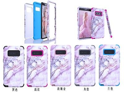 10pcs/lot 3 in 1 Hybrid Pink Marble Tri-Layer Case for Samsung Galaxy Note 8