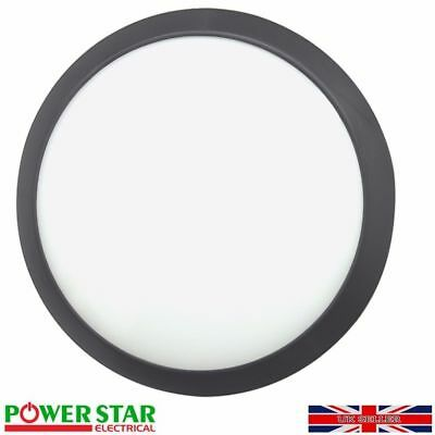 Round Surface Mount Led 12w Bulkhead Wall Ceiling Light Fitting IP66 Cool White