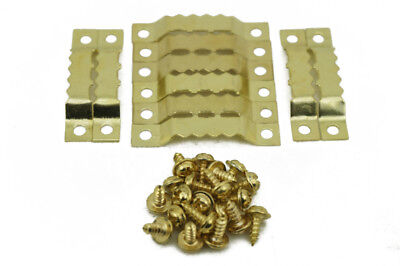 10/20/50/100 Pcs Painting Picture Photo Gold Saw Tooth Sawtooth Hanger & Screws