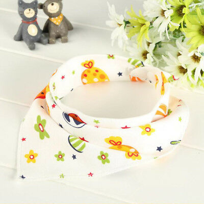 1pcs Cotton Baby Feeding Saliva Towel Dribble Triangle Bandana Bibs Hot
