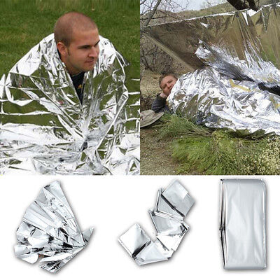 10x Premium FOIL Thermal Emergency BLANKET,First Aid Waterproof Camping Survival