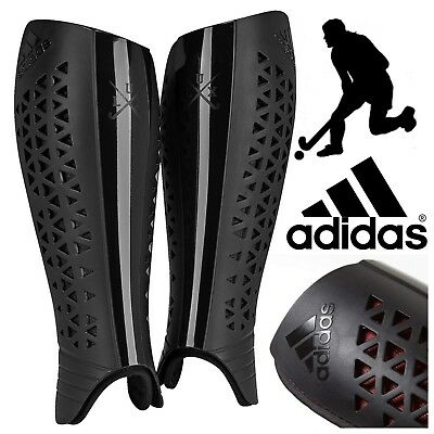 adidas Lux Pro Field Hockey Shin Guard Black Thermoplastic Sports Shinguards