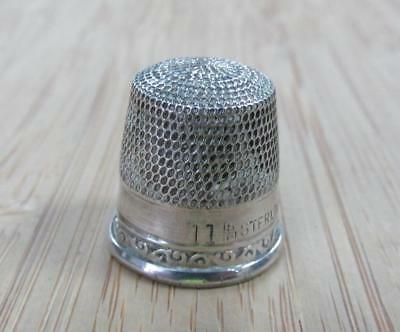 Sterling Silver Vintage #11 Thimble ~ 2.1 grams ~ 13-C977
