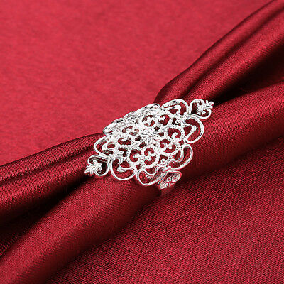 925 sterling Silver Rings Jewelry retro wedding women lady Gift cute fashion