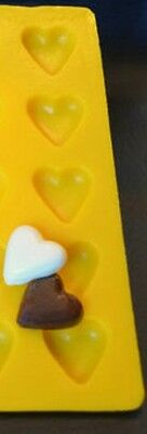 Cream Cheese Mint Candy Rubber Mold -Heart- 5 cavity cake decorating flexible