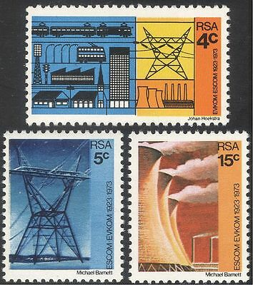 RSA 1973 Power Station/Energy/Electricity/Trains/Trolley Bus/Transport 3v n43293