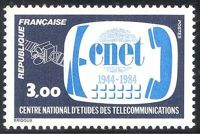France 1984 CNET/Telecommunications/Satellite/Telephone 1v (n43417)