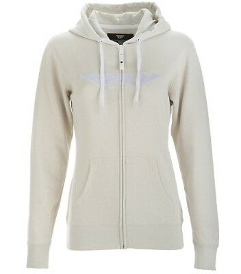 Fly Racing Womens Corporate Hoodie Zip-Up Hoody Ivory S-2XL