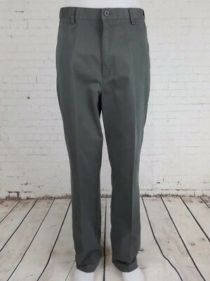 Vtg 1990s Green Khaki Puritan Tapered Leg Preppy Cotton Chino Trousers  W32 EG39