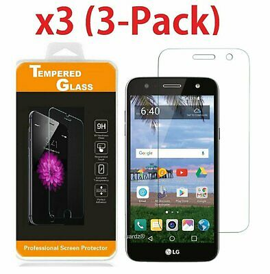 3-PACK Premium Clear Slim Tempered Glass Screen Protector for LG X Power