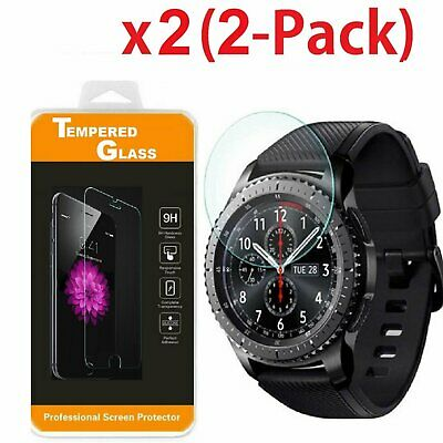 2-PACK Tempered Glass Protector for Smart Watch Samsung Gear S3 Frontier