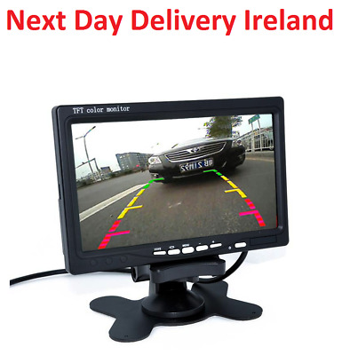 """7"""" Inch LCD Color HD Mirror Monitor for Car Reverse Rear View Backup Camera DVD"""