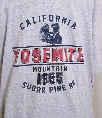 Sugar Pine RR T-Shirt Yosemite Mountain California 1965 Railroad Lg 40 Chest New