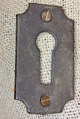 Door Keyhole Lock Escutcheon Skeleton key Plate old antique iron LARGE 2 1/2""