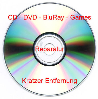 CD DVD BluRay Games Playstation PS1 PS2 XBox Wii Disc Repair REPARATUR - Service