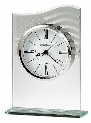 """645-779 """"liberty"""" A Crystal  Howard Miller Table/ Mantle Clock  645779"""
