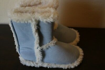 NWT Pottery Barn Kids Pink SUEDE SHERPA Booties SLIPPERS Size 13-2 LARGE