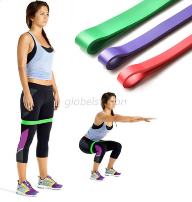 Heavy Duty Resistance Band Loop Exercise Yoga Workout Power Gym Fitness Rope