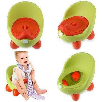 Green Boy Easy Clean Kids Toddler Potty Training Chair Seat Removable Potty Lid