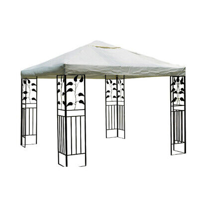 10'x10'ft Gazebo Canopy Top Replacement 2 Tiers Patio Pavilion Sunshade Cover US