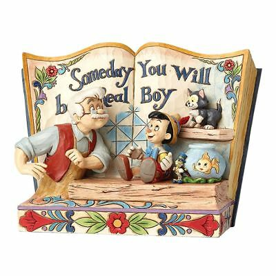 """Disney Traditions """"Someday You Will Be a Real Boy"""" Pinocchio Storybook Figurine"""