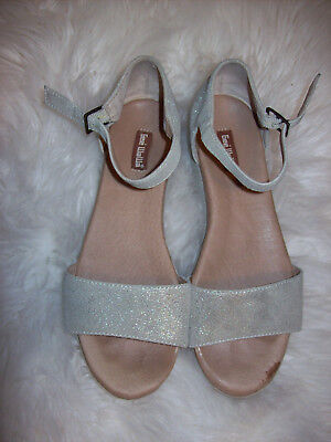 FL Anthropologie Spangled Sandals In Yellow Org.98.00 New In Box!