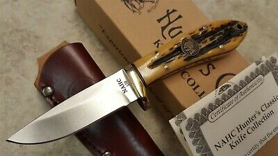 NAHC Bone Handle Limited Edition collectible Hunter Fixed Blade Knife
