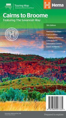 Hema Maps - Savannah Way - Cairns To Broome - 5Th Edition - Campng - Rest Areas