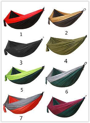T Portable Lightweight Double Air Hammock Swing Bed for Outdoor Travel Camping