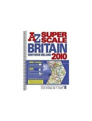 Great Britain Super Scale Road Atlas (A-... by Geographers' A-Z Map Spiral bound