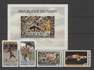 Olympiade 1980, Olympic Games - Niger - 714-717, Bl.30 ** MNH