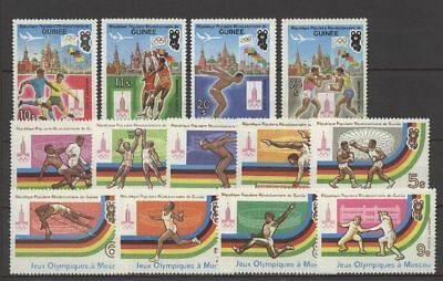 Olympiade 1980, Olympic Games - Guinea - 896-908 ** MNH