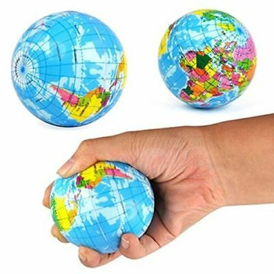 Stress Relieves World Map Foam Ball Atlas Globe Palm Toy Gift Planet Earth  AU