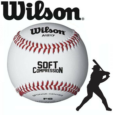 Wilson WTA Soft Compression Leather Baseball Ball Reinforced Seams
