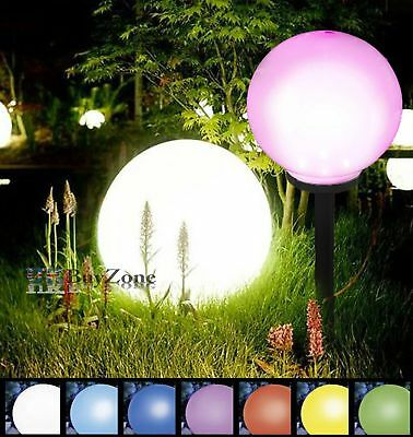 Giant Jumbo Colour Changing LED Solar Garden Mood Ball Sphere Globe 25 cm