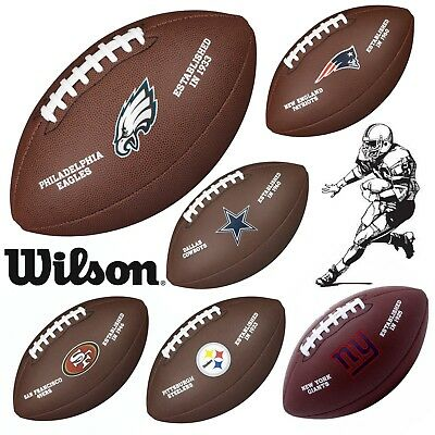 Wilson NFL Licensed American Football Gridiron Ball Official Teams Full Size