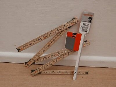 Bahco 1 Metre Metric & Imperial Wooden (Birch) Folding Rule