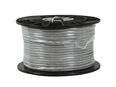 Cat3 Ethernet Bulk Cable Network Flat Stranded UTP Copper Wire 1000ft Silver