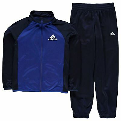adidas Kids Boy Entry Tracksuit Junior Poly Long Sleeve Track Jacket Top Bottoms