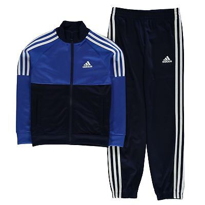 adidas Kids Boy Tiberio CH Tracksuit Junior Poly Funnel Track Jacket Top Bottoms