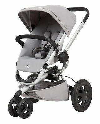 Quinny Buzz Xtra 2.0 Auto Unfold Reversible Seat Baby Stroller Grey Gravel NEW